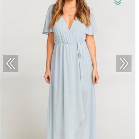 6bda32a6550d Show Me Your MuMu Dresses | L Sophia Wrap Dress Steel Blue | Poshmark
